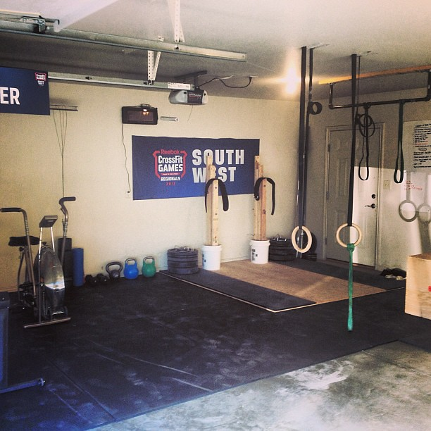 New floor in the garage gym crossfit garagewod by