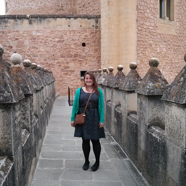 #mmmay15 Día uno: Colette handbook mash-up dress - bodice based on pastille, skirt on truffle - at the alcázar in Segovia