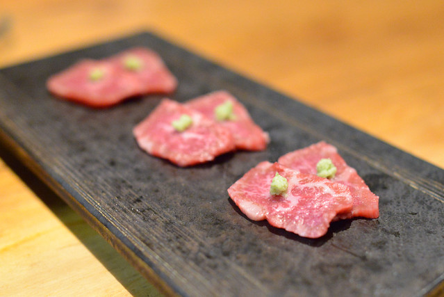 A5 Wagyu Filet fresh wasabi and soy