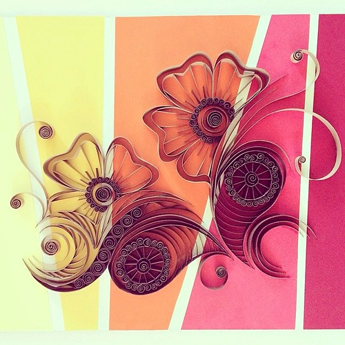 Quilled Flowers by Ashley Chiang