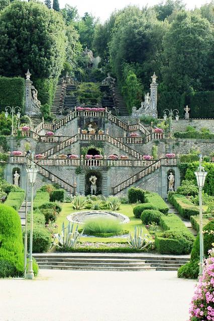Giardino di Villa Garzoni: scalinata