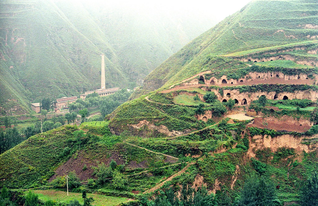 Living in the loess near Lingbao, Henan Province, China ...