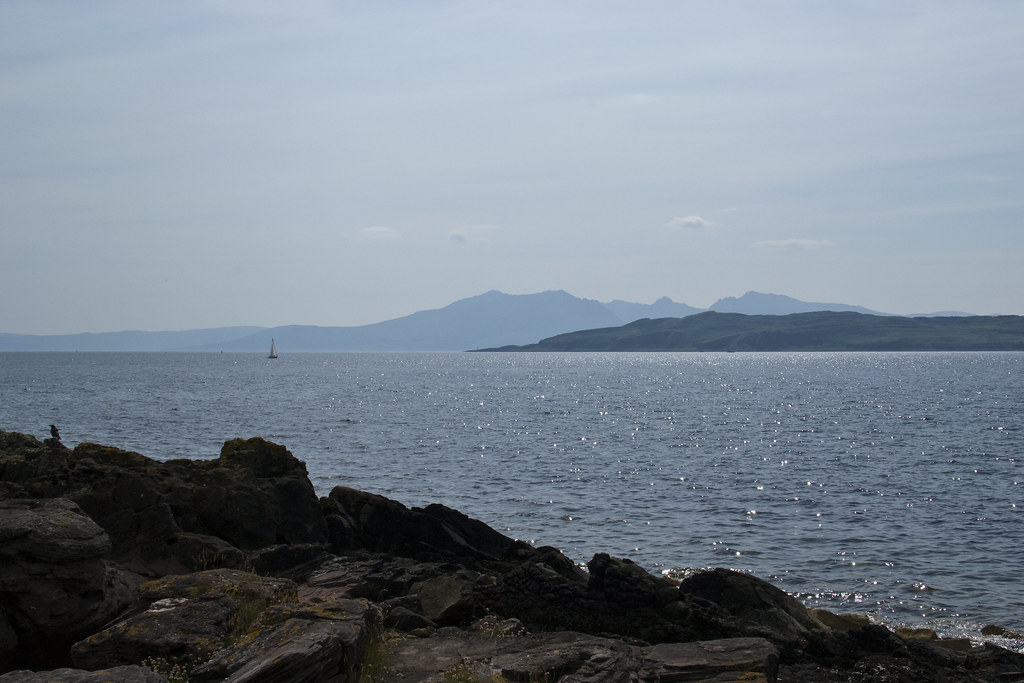Arran beyond Bute from Cumbrae 3 Trips Thursday