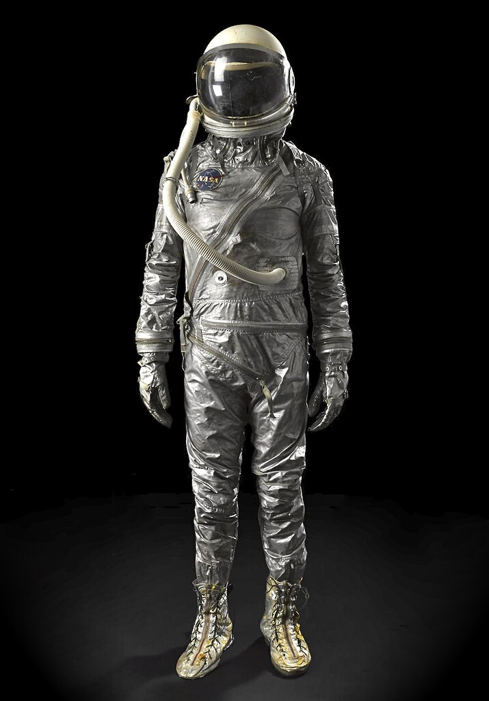 whoa   won  mercury space suit  iconic silver