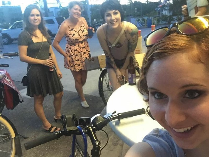Thursday night ladies ride airport shenanigans 5/14/15