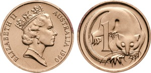 1990 one-cent master coin