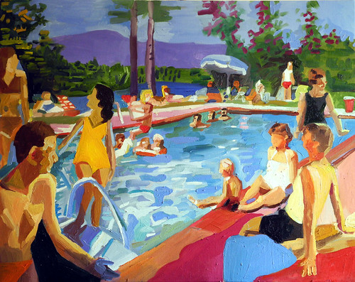 pool scene Lake Placid