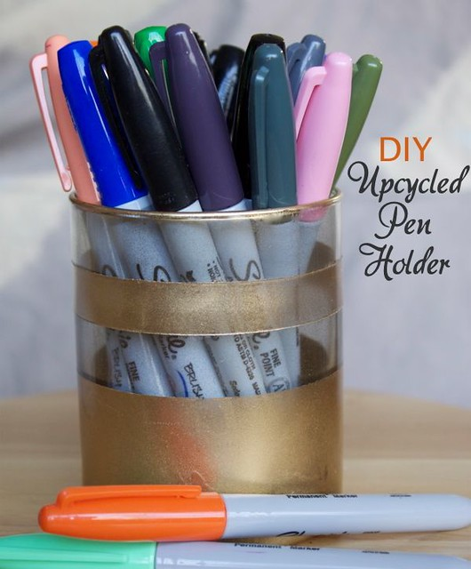 diy Upcycled Pen Holder