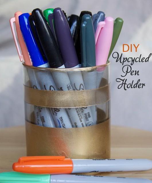 diy Upcycled Pen Holder