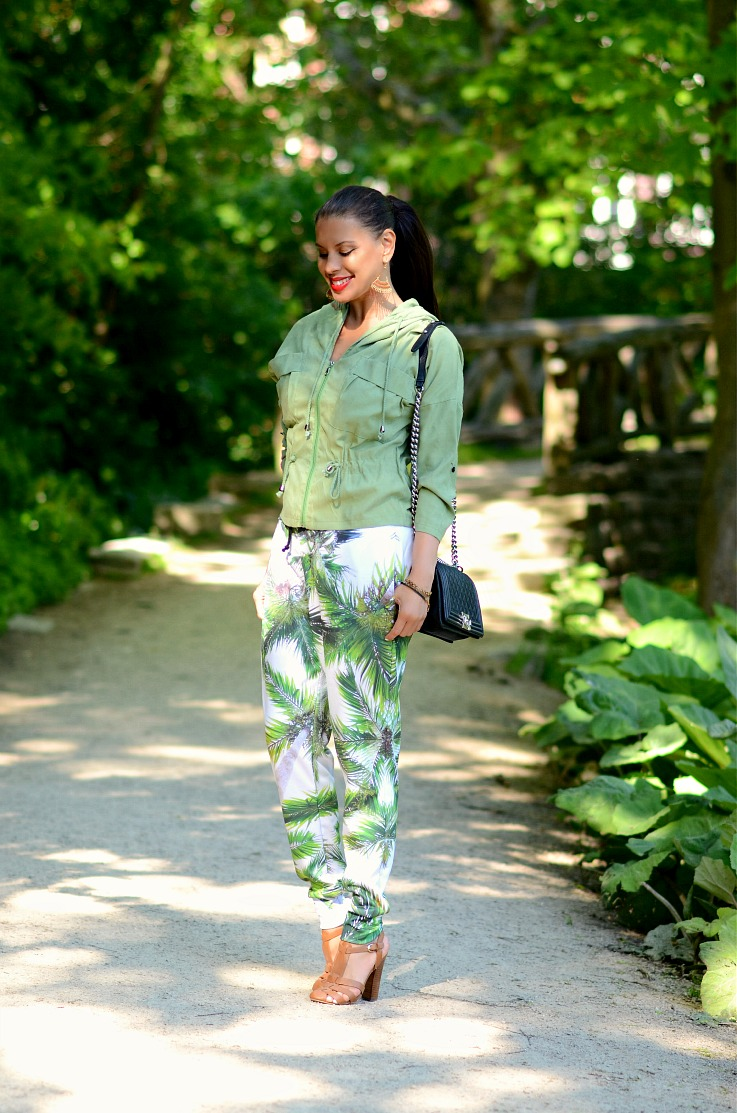 DSC_1199 Tamara Chloé, Mr Gugu & Miss Go, Palm Tree Joggers, Choies Jacket, Chanel boy Bag,