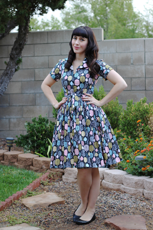 Bernie Dexter Lauren Dress in Fall For You print
