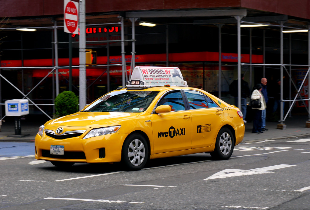 Manhattan New York Usa Nyc Taxi 2011 Toyota Camry