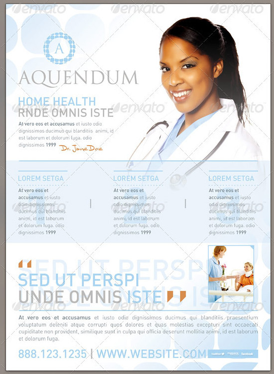 Home Health Flyer Template And Mailer Preview2 This