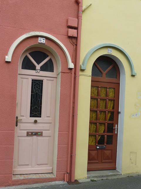 Maisons De Ville Aux Fa Ades Color Es Rue F Lix Le Dantec