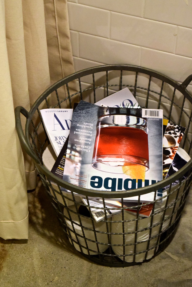 Magazine Basket at Farmers Daughter Hotel, West Hollywood