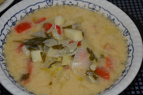 vegetables stew in goats whey June 15