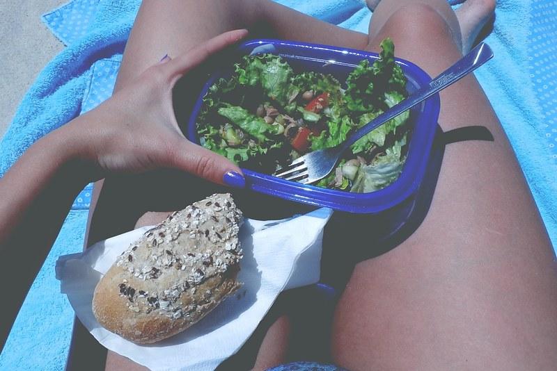 comida na praia