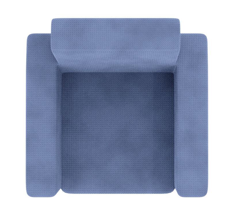 Basic Armchair Overhead Png Made In Blender Material By