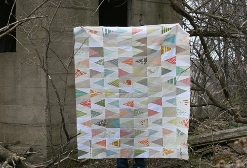 trail marker quilt top | by filminthefridge