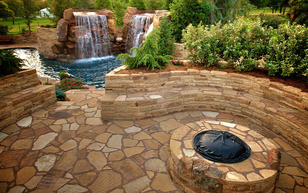 Hefner Estate Flagstone Patio And Seating Area Create A