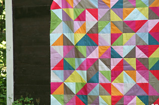 simply solids HST quilt top | by filminthefridge