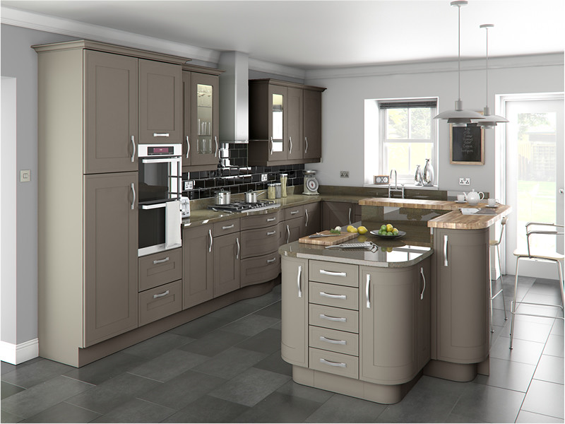 Stone Gray Kitchen Cabinet Design Ideas ~ Shelley stone grey a traditional
