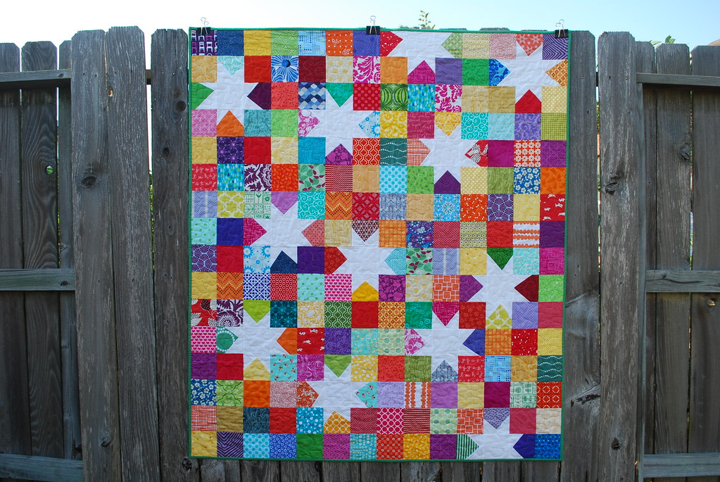 Scrappy Wonky Star Quilt Blogged Tammy Blackburn Flickr