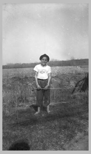 Boy with fishing pole
