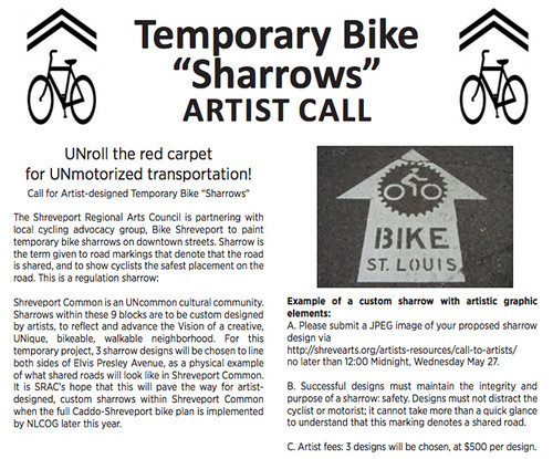 Sharrow design artist call