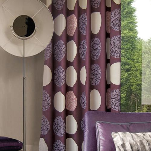 月滿芳華(獨家) 日式和風藝術花卉  防光(遮光)窗簾布 DA1290141