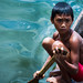 A boy in Lake Sebu