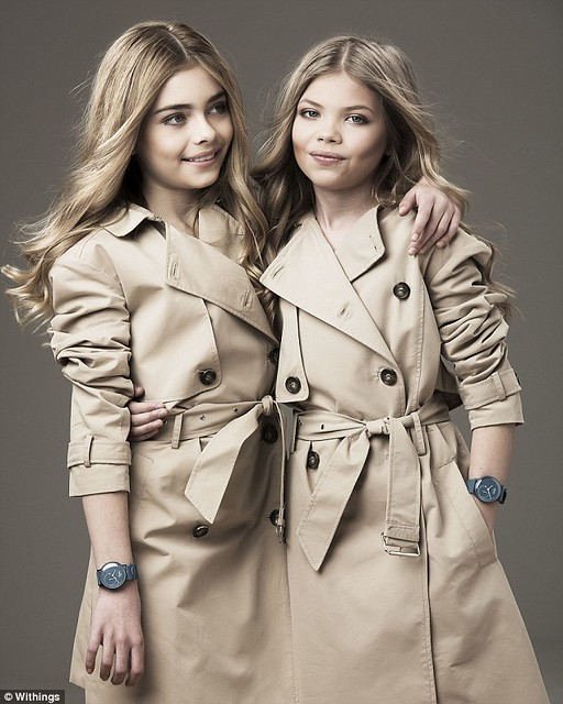 Mini Cara Delevingne and Kate Moss: Harley Chapman and Maya Koski-Wood (photo: Withings)