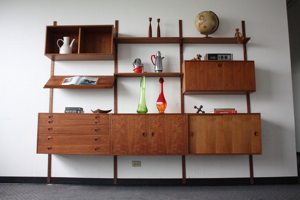 Majestic Hansen Danish Modern Teak Modular Wall Unit Denm