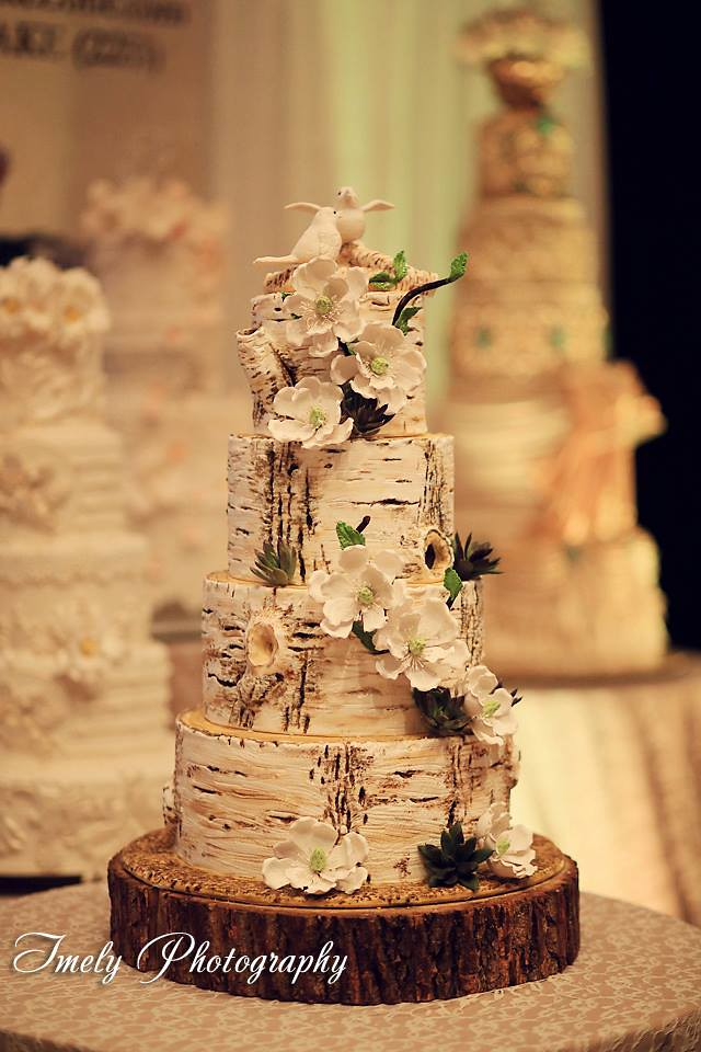 white birch wedding cake birch tree trunks hyatt sarasota the cake zone 27231