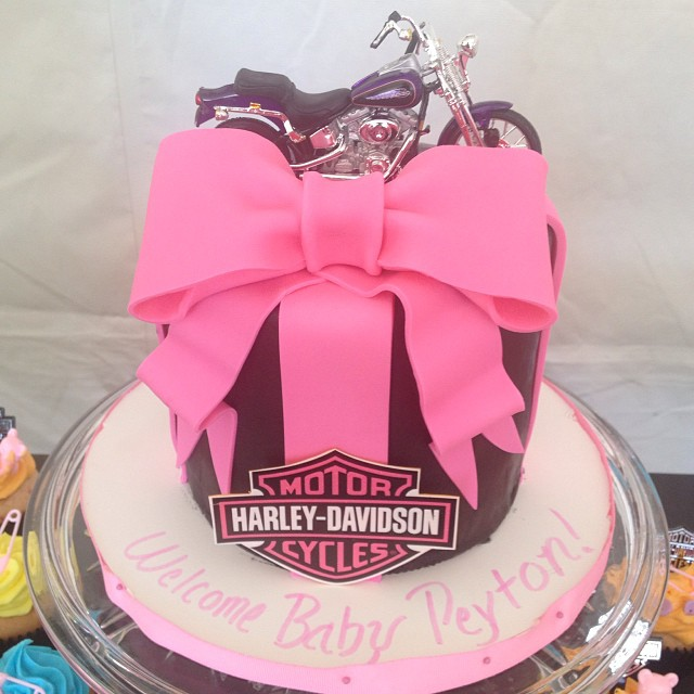 Harley Davidson Baby Shower Cake , Awesome Theme #imagineiu2026 | Flickr