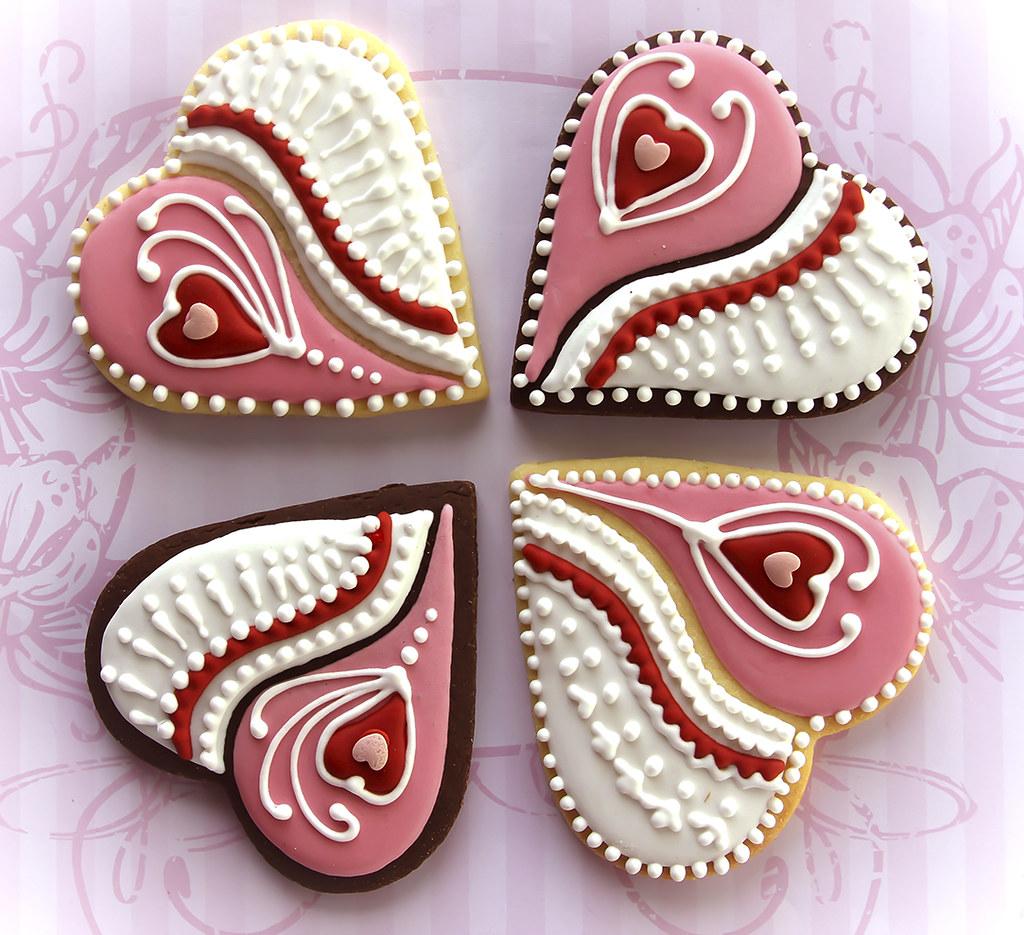 Valentines Decorated Cookies Ideas