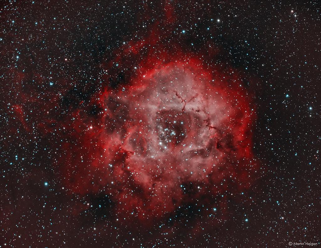 The Rosette Nebula Ngc 2237 A Widefield Bi Color Image