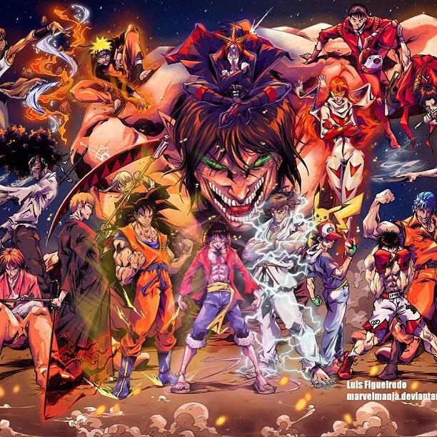 Oh My Anime #ultimate #team #anime #goku #luffy #naruto #i