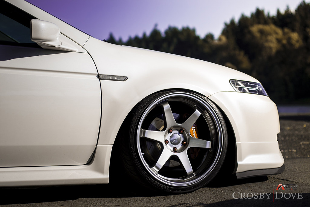 varrstoen es222 hyper black on white acura tl with brembo. Black Bedroom Furniture Sets. Home Design Ideas