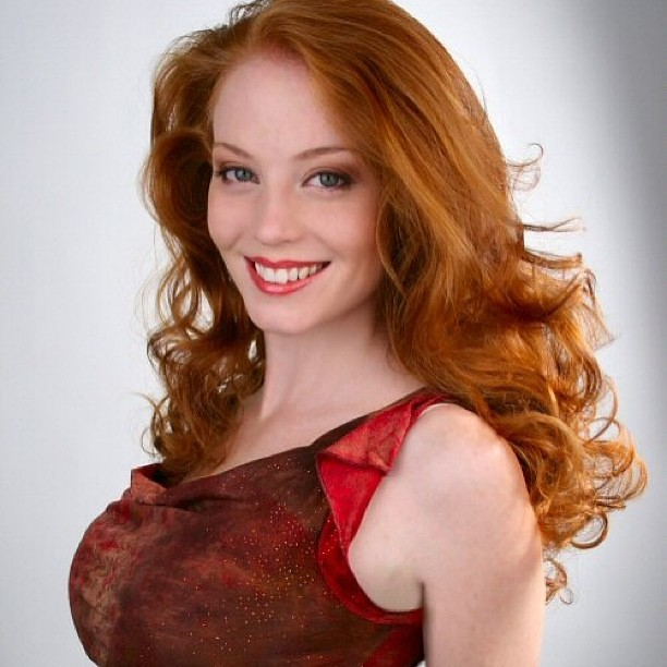 Beautiful hot redhead woman