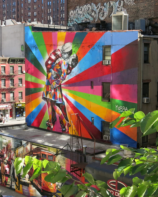 Highline mural by eduardo kobra flickr photo sharing for Mural eduardo kobra