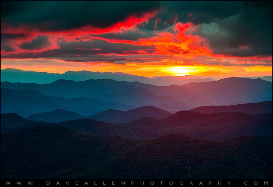 Blue Ridge Mountains Sunset The Burning Eye Blue Ridge