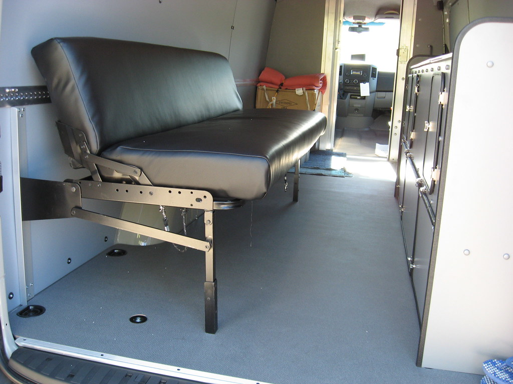Sprinter Delivery Van Couch Bed Seating Position Kevin
