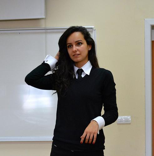 When tie russian woman