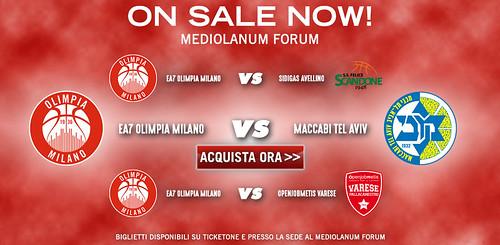 On Sale: ecco i biglietti per Avellino, Maccabi e Varese