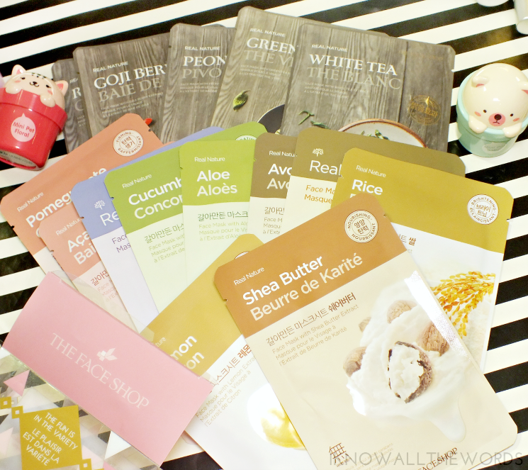 the face shop face mask set (1)