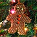 Woven gingerbread man ornament