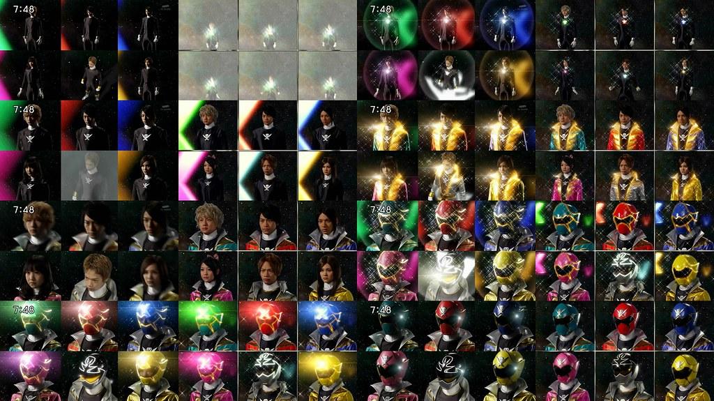 collage henshin comparison between gokaiger show first