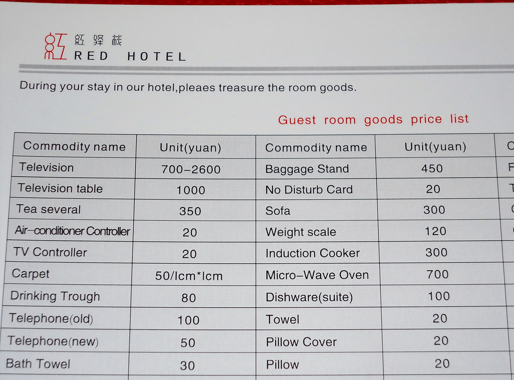 Cost Of A Hotel Room In China