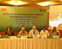 Session on Advancements in fuel quality and vehicular technologies: Is India moving on right track?  in progress at the 'Workshop on reducing vehicular emissions and improving fuel efficiency'